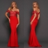 Elle Zeitoune Off The Shoulder Monroe Gown in Red