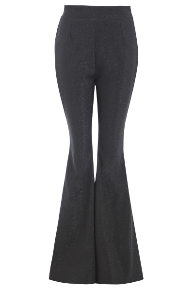 Sarvin Cobie Black Shimmery Flared Trousers