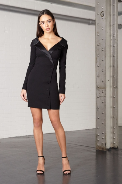 Joe's Jungle Alex Mini Blazer Dress Black