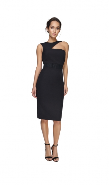 Joe's Jungle Paige Cutout Midi Dress Black